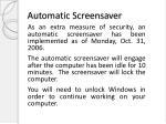 automatic screensaver