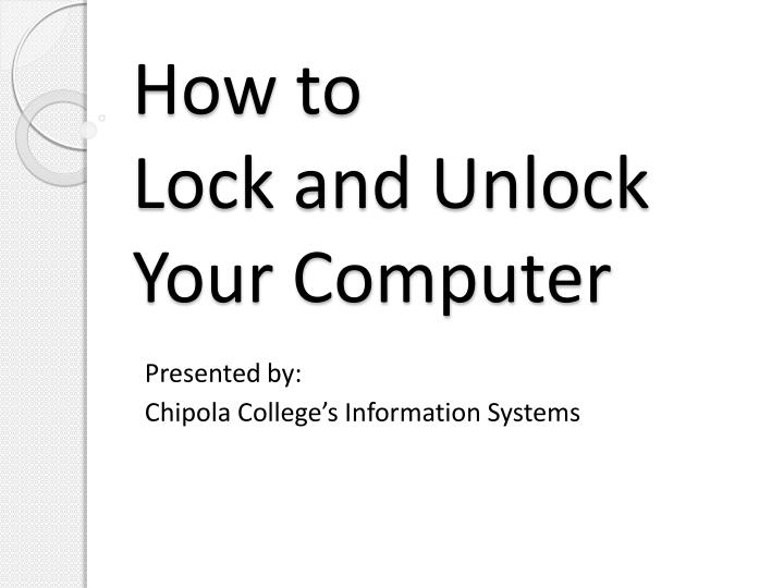 how to lock and unlock your computer n.