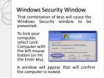 windows security window