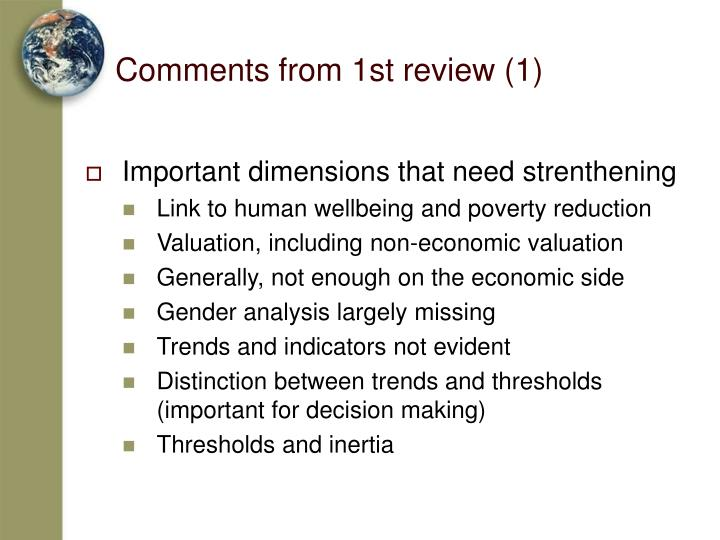 Comments from 1st review (1)