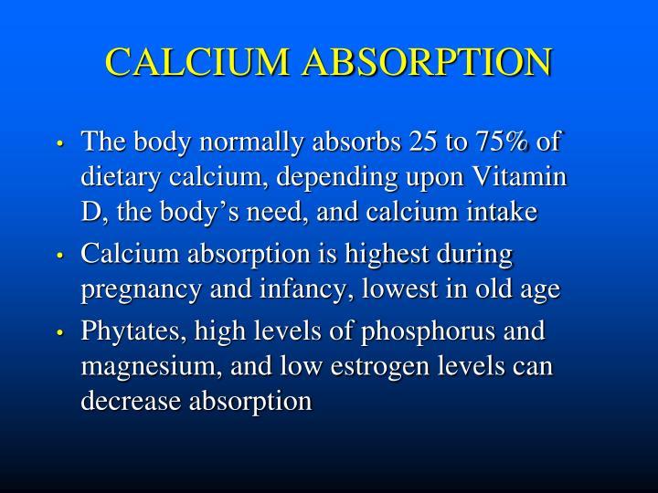 CALCIUM ABSORPTION