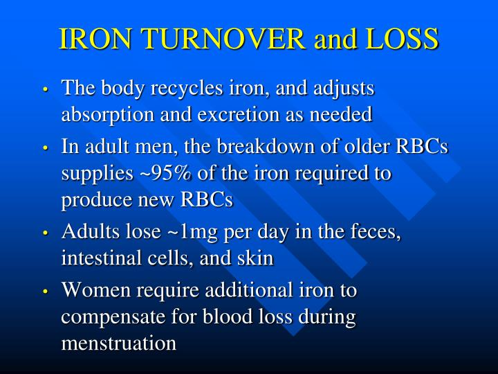 IRON TURNOVER and LOSS