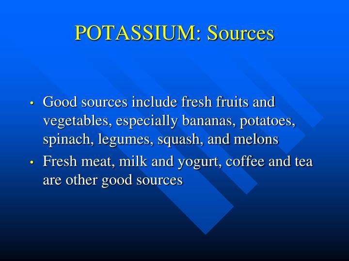 POTASSIUM: Sources