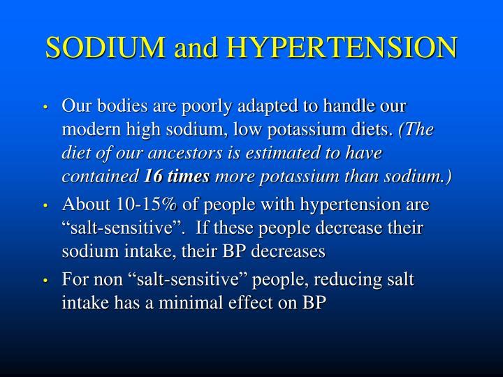 SODIUM and HYPERTENSION
