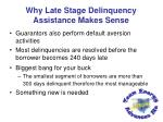 why late stage delinquency assistance makes sense1
