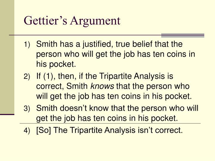 Gettier's Argument