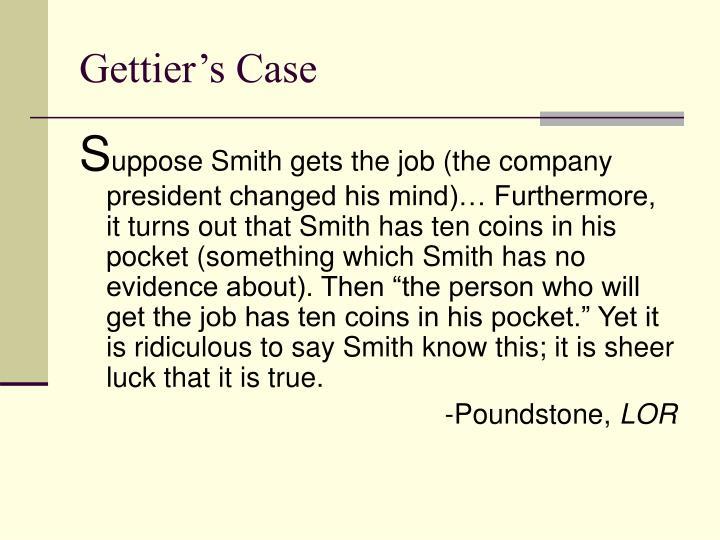 Gettier's Case