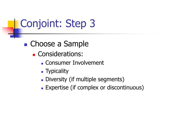 Conjoint: Step 3