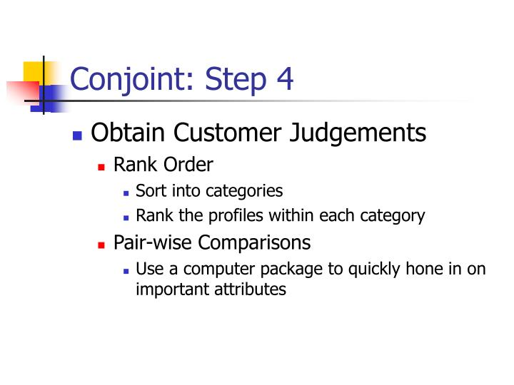 Conjoint: Step 4