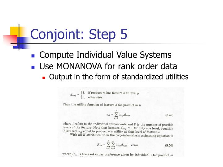 Conjoint: Step 5