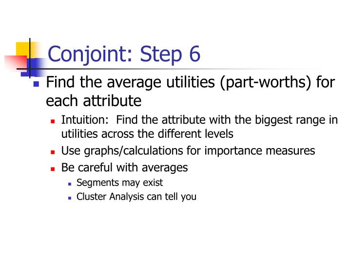 Conjoint: Step 6