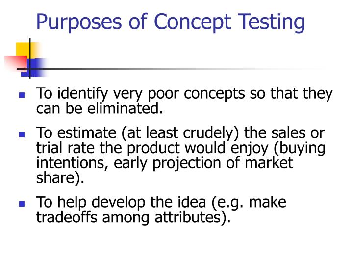 Purposes of Concept Testing
