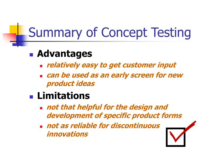 Summary of Concept Testing
