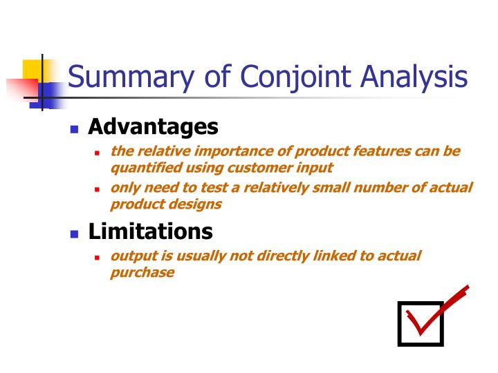 Summary of Conjoint Analysis