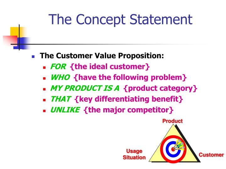 The Concept Statement