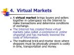 4 virtual markets