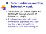 8 intermediaries and the internet cont