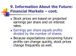 9 information about the future financial markets cont1