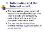 information and the internet cont