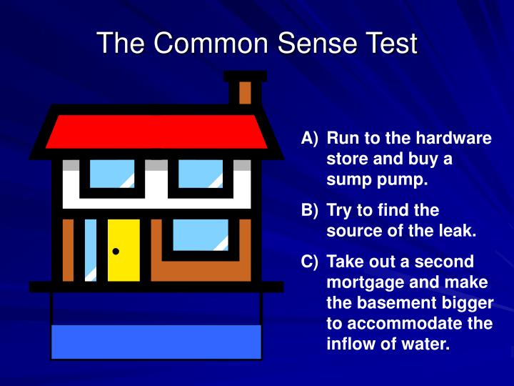 The Common Sense Test