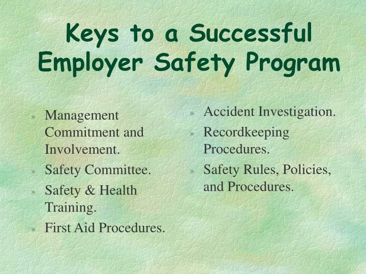 Management Commitment and Involvement.