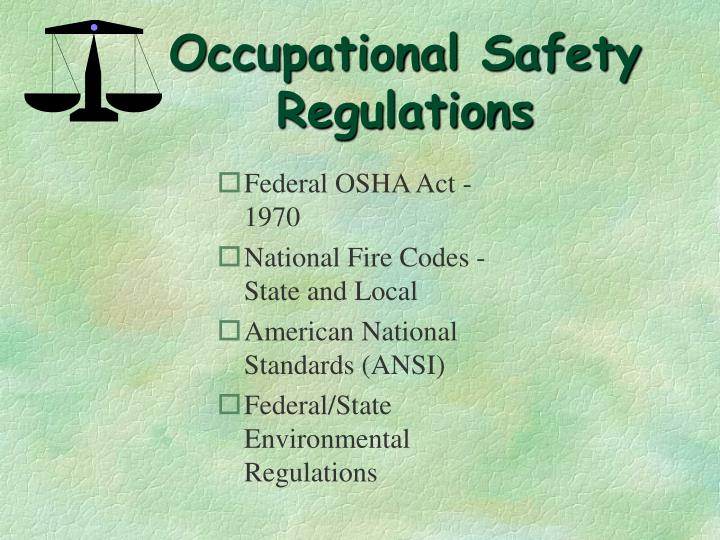 Federal OSHA Act - 1970