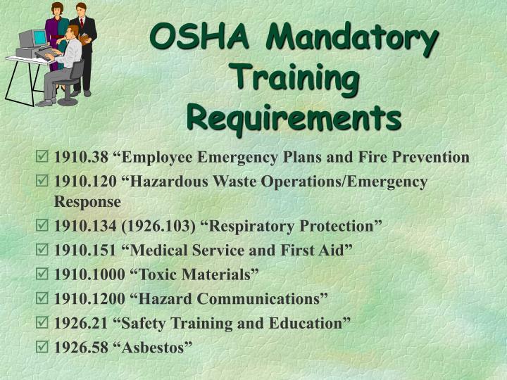 OSHA Mandatory Training Requirements