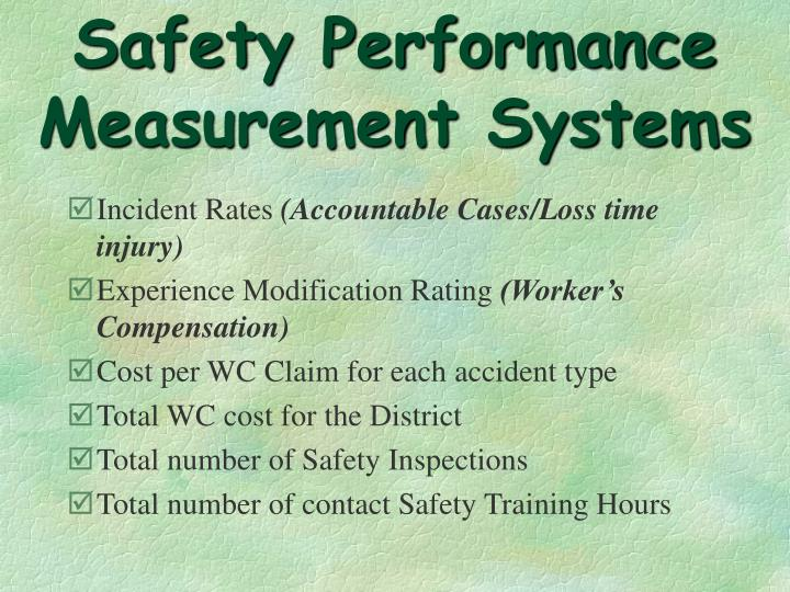 Safety Performance Measurement Systems