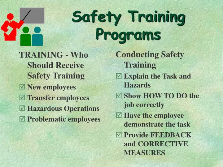 TRAINING - Who Should Receive Safety Training