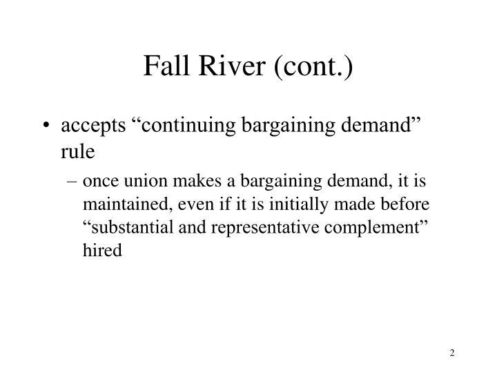 Fall river cont