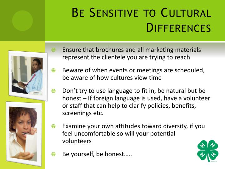 Be Sensitive to Cultural Differences