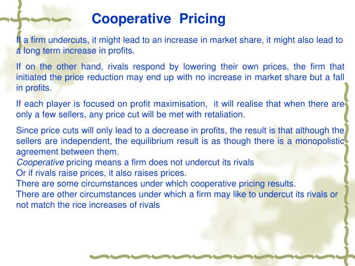 Cooperative  Pricing