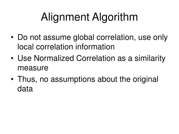 Alignment Algorithm