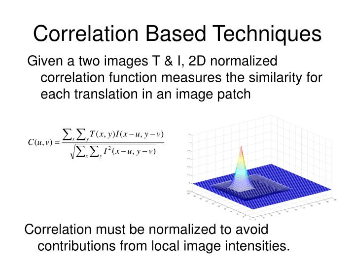 Correlation Based Techniques