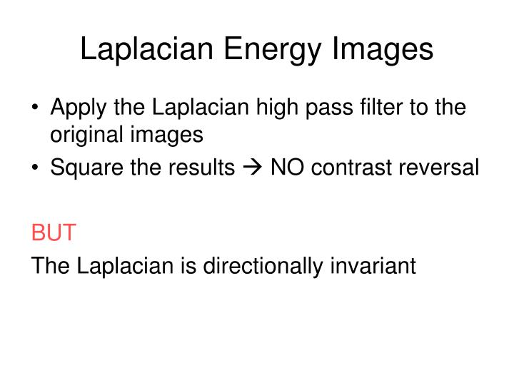 Laplacian Energy Images
