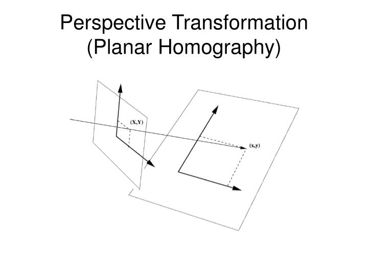 Perspective Transformation  (Planar Homography)