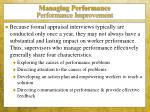 managing performance performance improvement