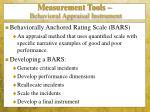 measurement tools behavioral appraisal instrument1