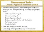 measurement tools outcome appraisal instrument mbo