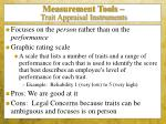 measurement tools trait appraisal instruments