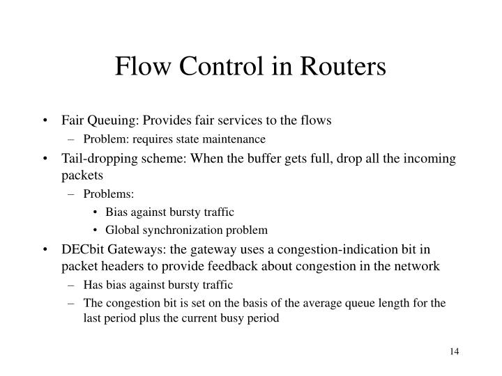 Flow Control in Routers