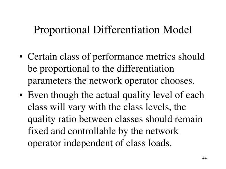 Proportional Differentiation Model