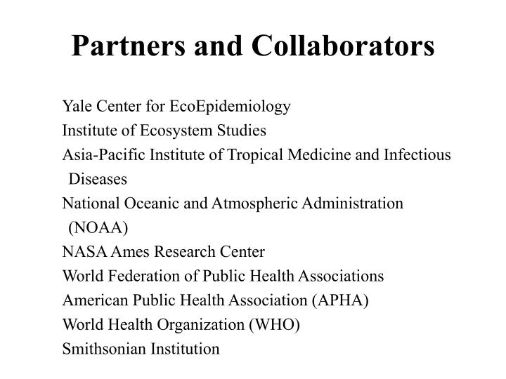 Partners and Collaborators
