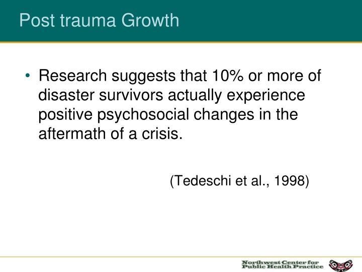 Post trauma Growth