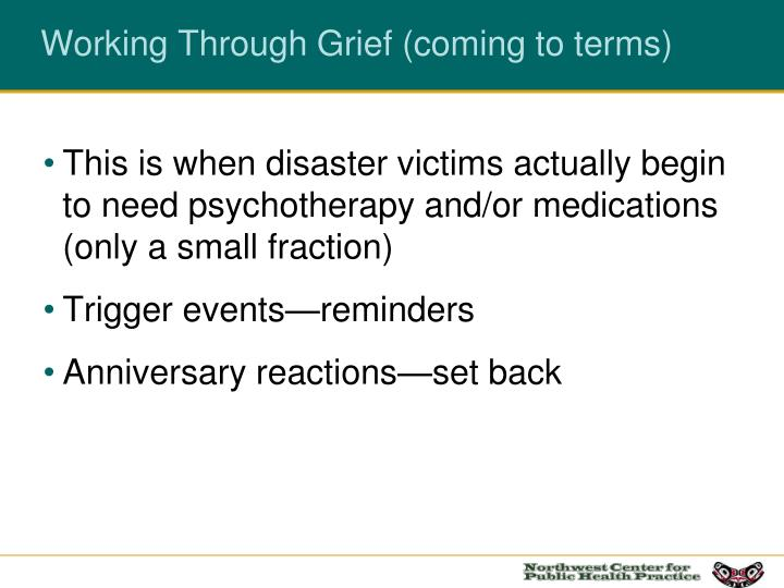 Working Through Grief (coming to terms)