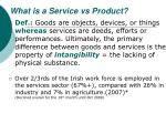 what is a service vs product
