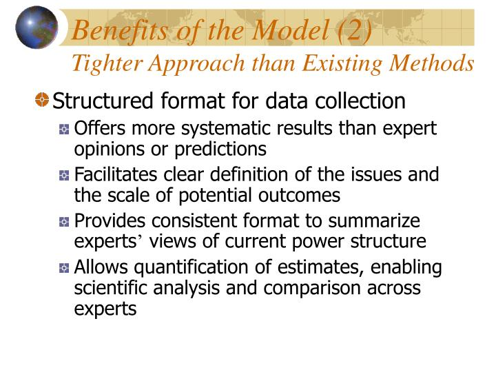 Benefits of the Model (2)