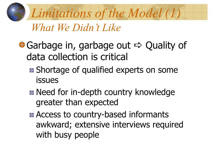 Limitations of the Model (1)