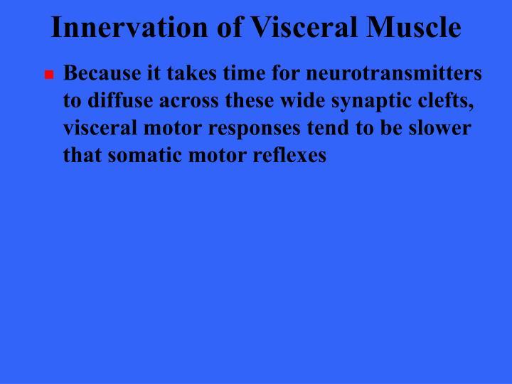 Innervation of Visceral Muscle