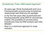 evolutionary trees dna based approach